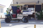 Delivery truck Caye Caulker style